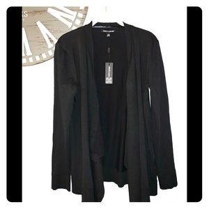 NWT Cable & Gauge black draped cardigan size large